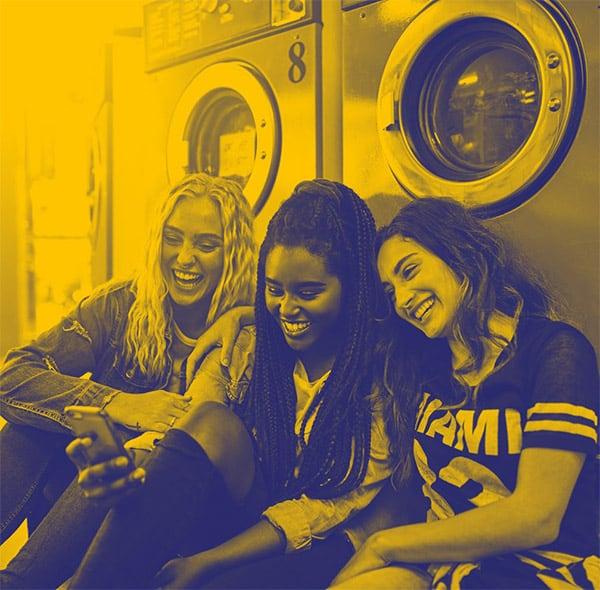 Une laverie dans le campus, un espace de convivialité.