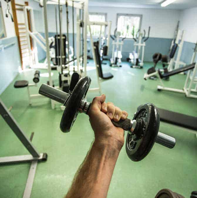 Salle de musculation équipé ouverte tout au long de l'année.