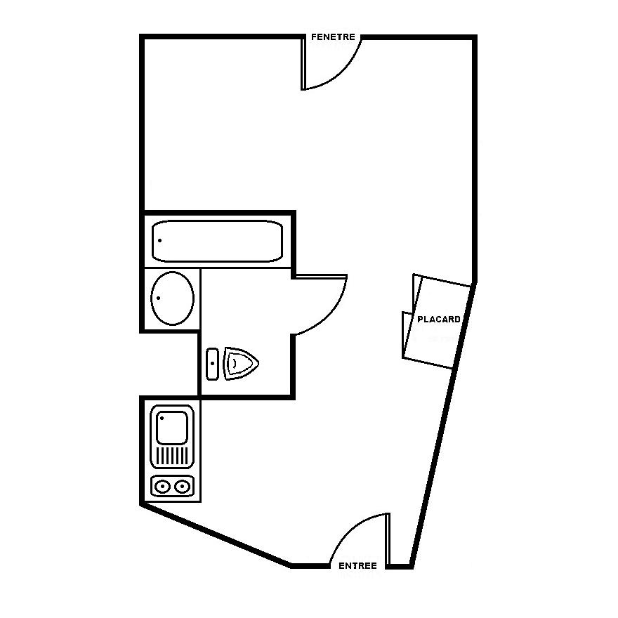 Plan de masse studio 25m2 ou 30m2 Campus de Bissy